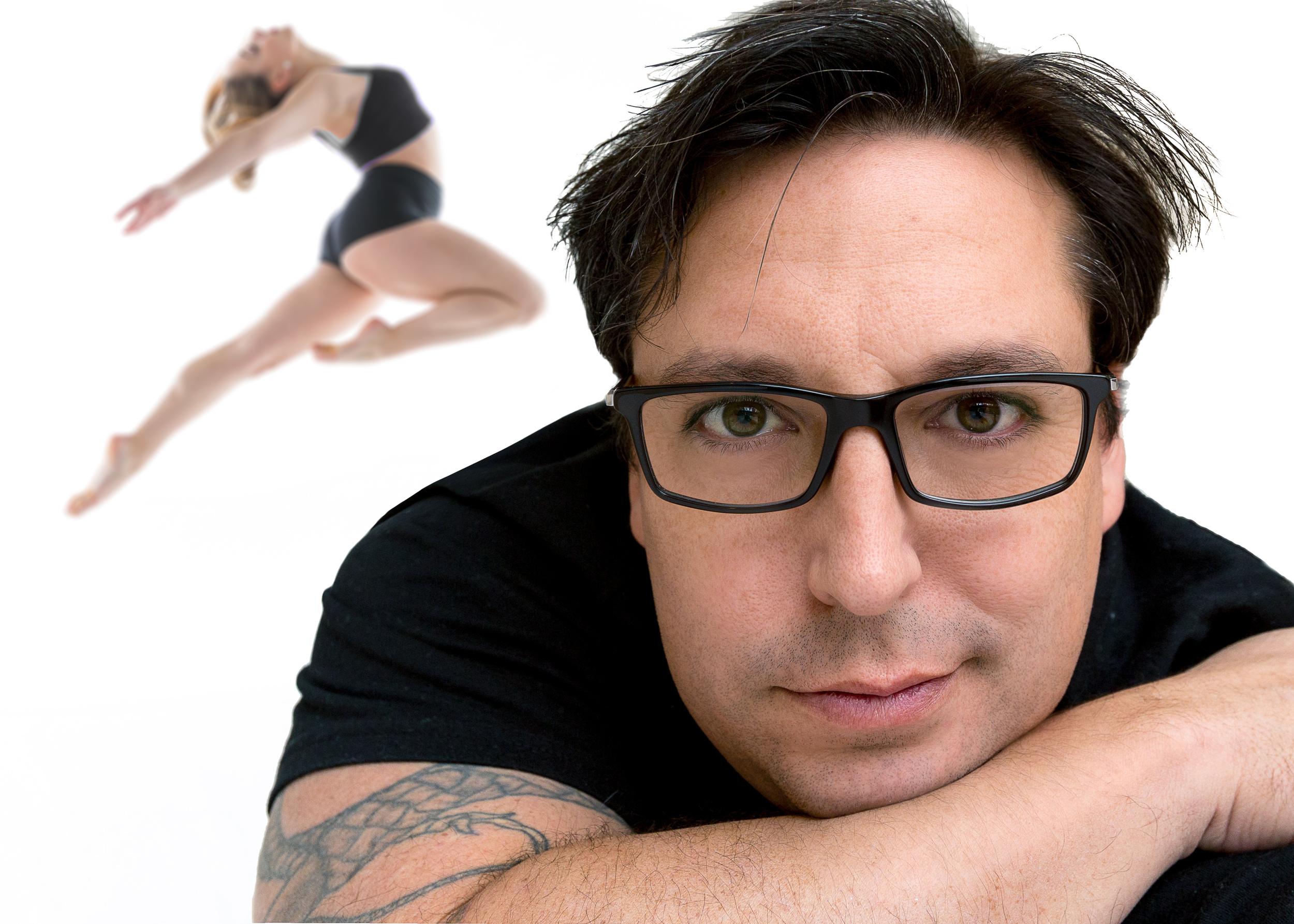 Jonathan Givens - the photographer. Alyssa Barton - the dancer.