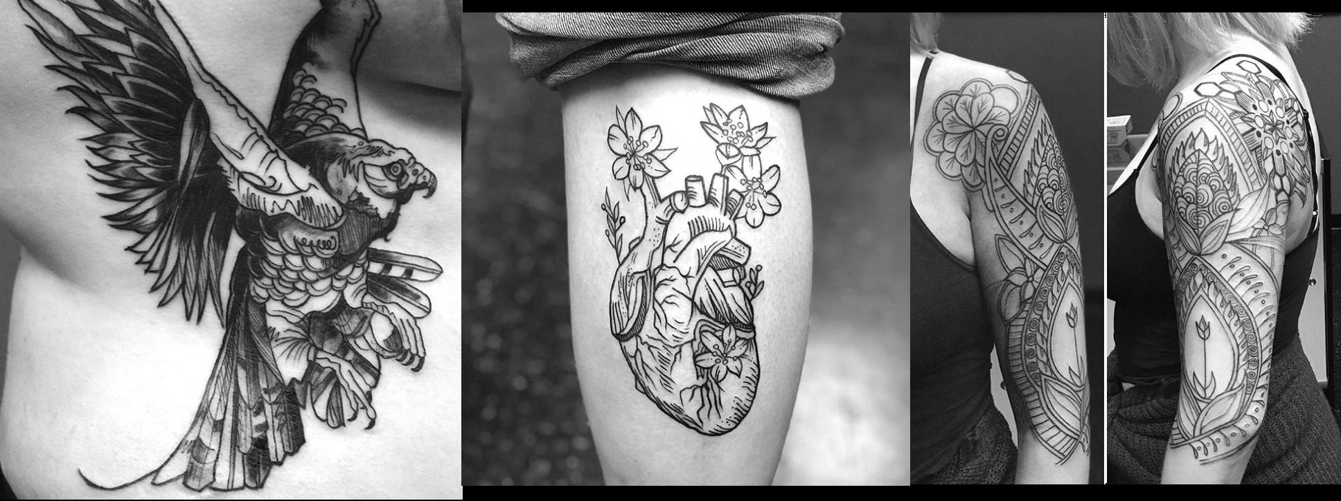 Here are a few tattoos to really showcase the versatility of Rhona's style.