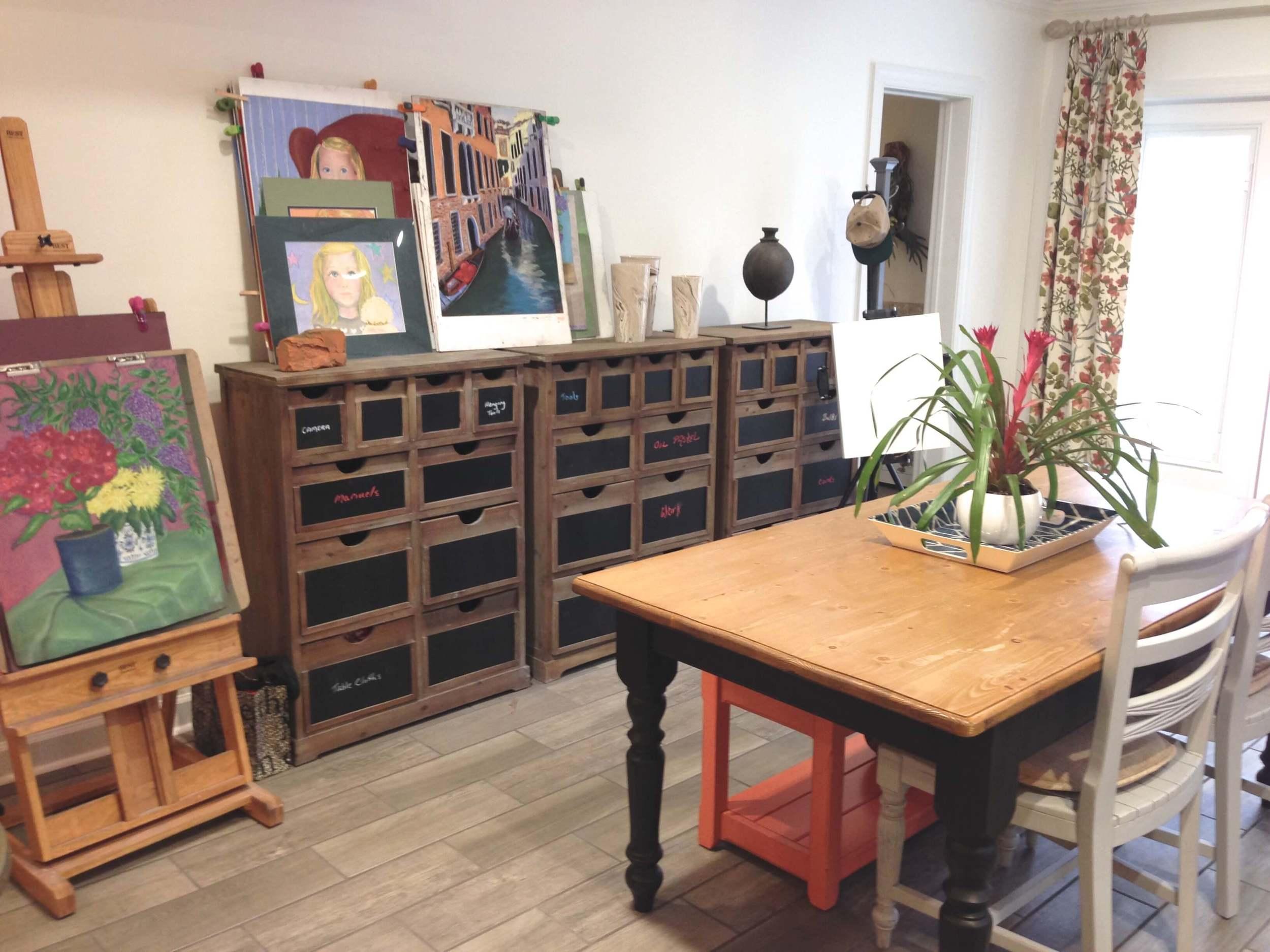 Basement Art Studio