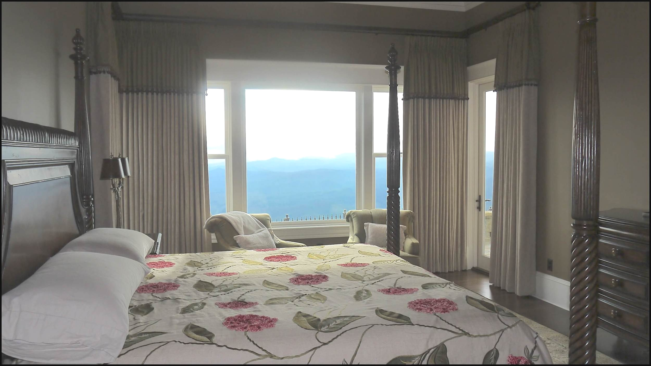 Master bedroom in Blowing Rock, NC