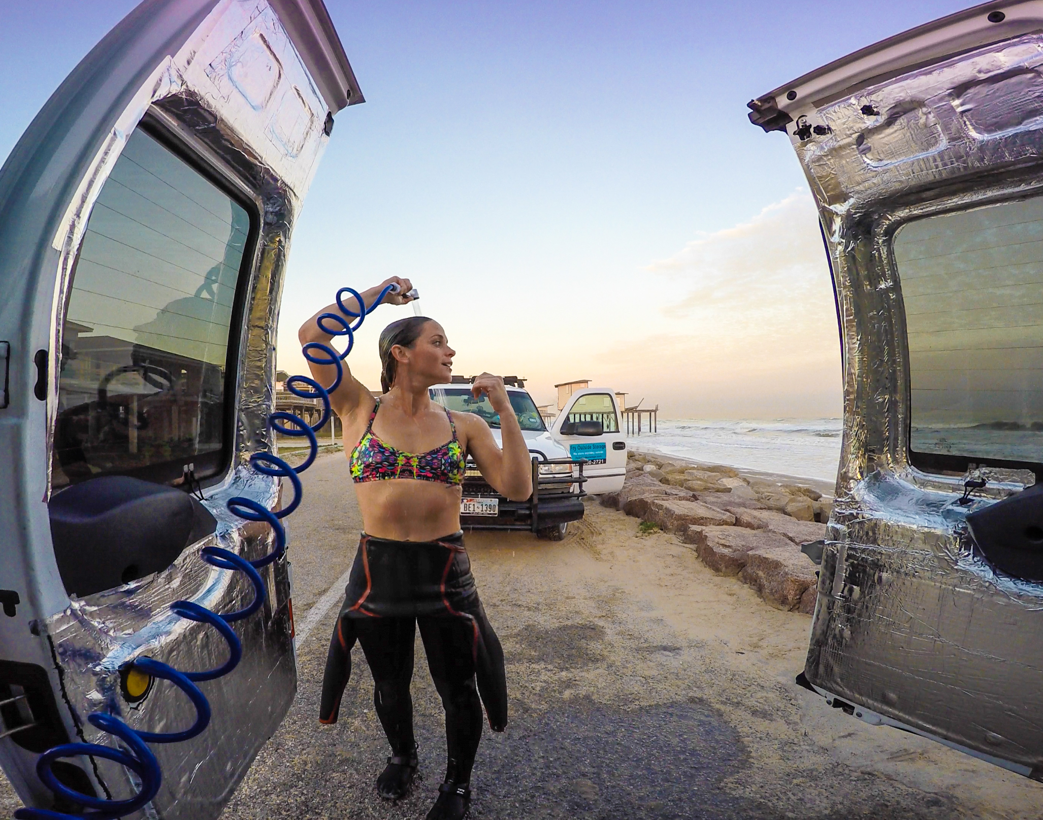 As a surfer, I will constantly need to be washing my salty wetsuits and rinsing off on the roadside. I went on a quest to find the best portable shower system and discovered  Big Kahuna !