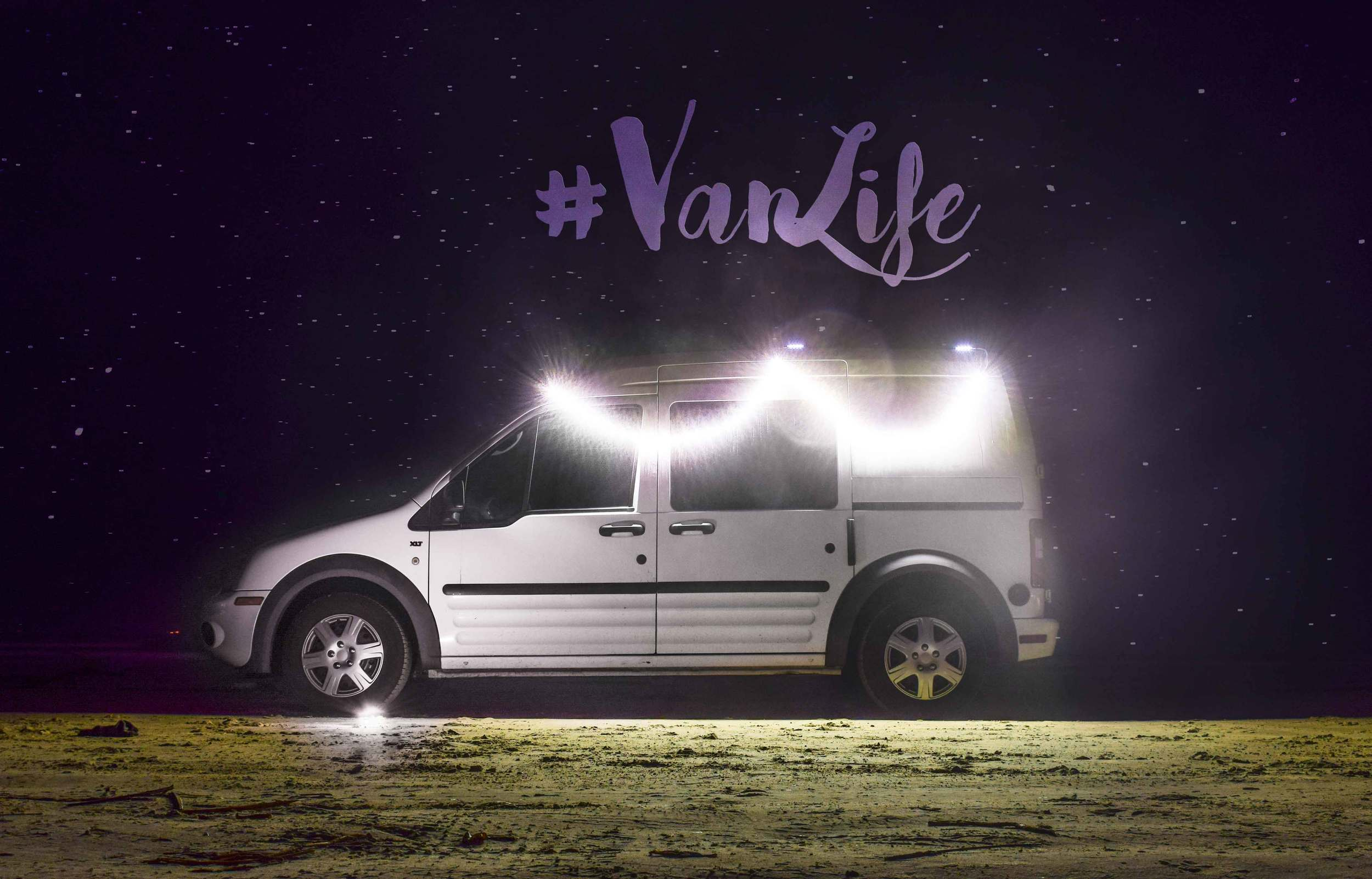 Look! #VanLife is written in the sky! Actually no, it was written in Photoshop :P ...But the amount of light the  Luminoodle  puts out is very, very real!