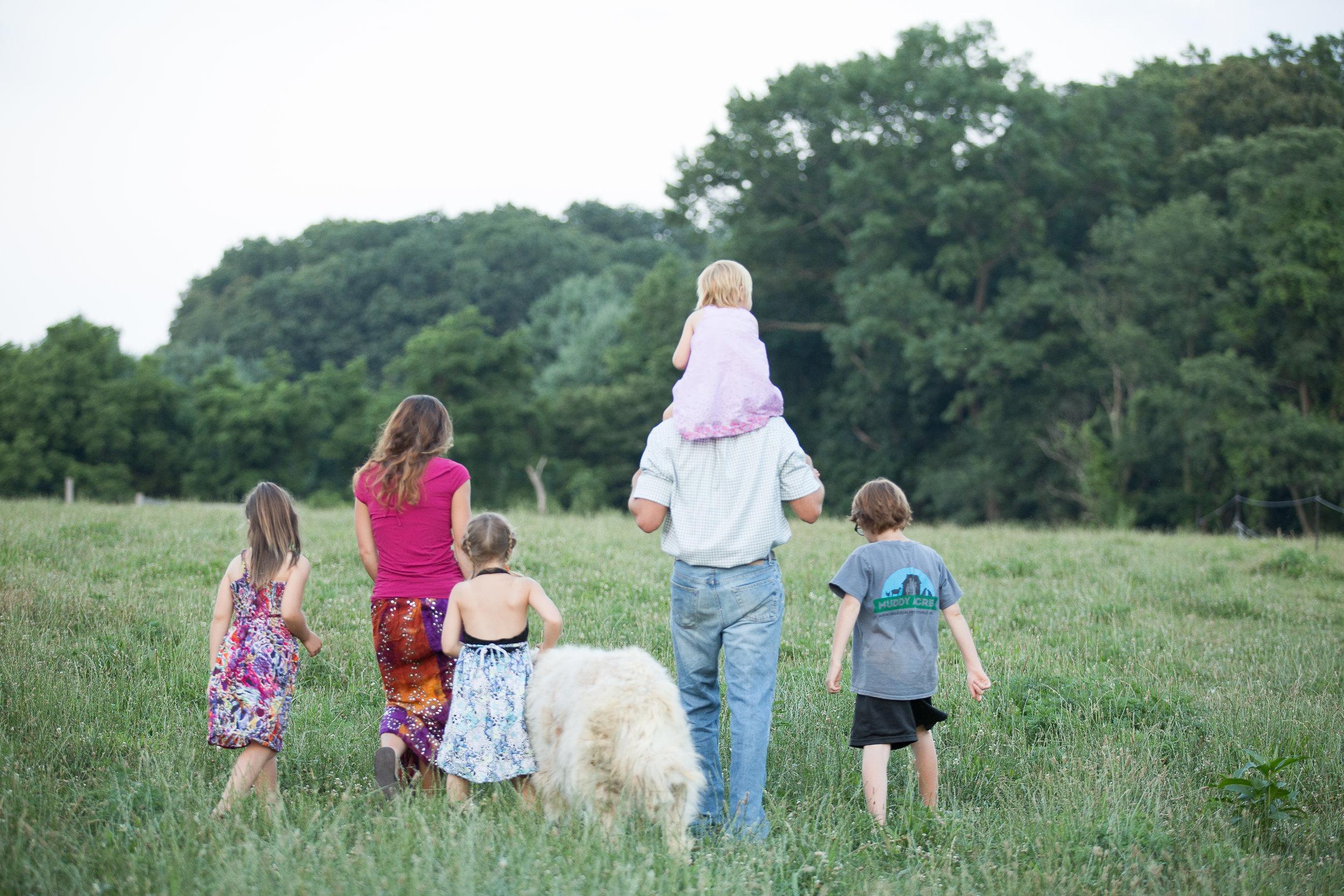 Family Photo on Local Flower Farm in Harford County