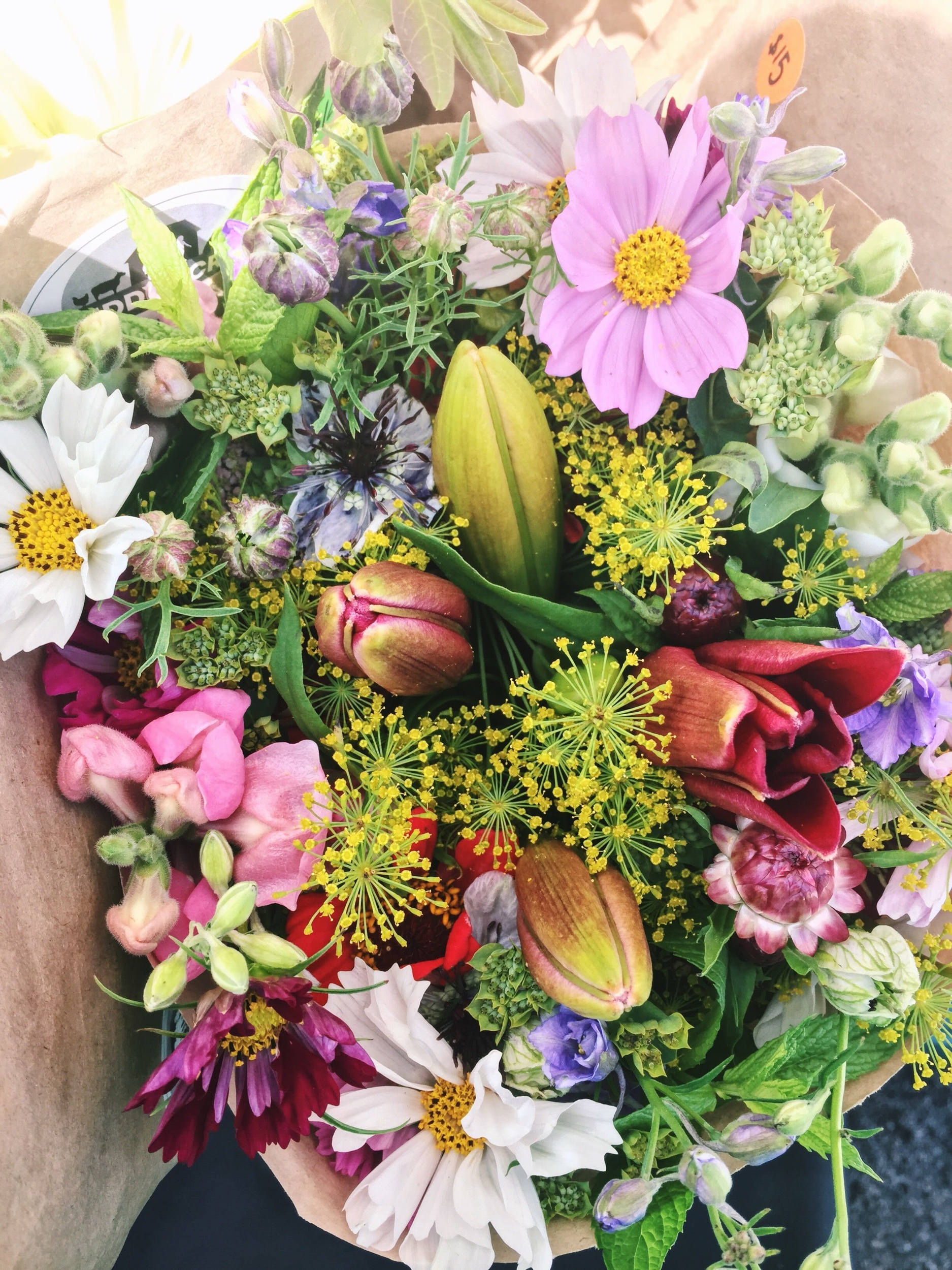 Diy Event Flower Buckets Seven Petal Flower Farm