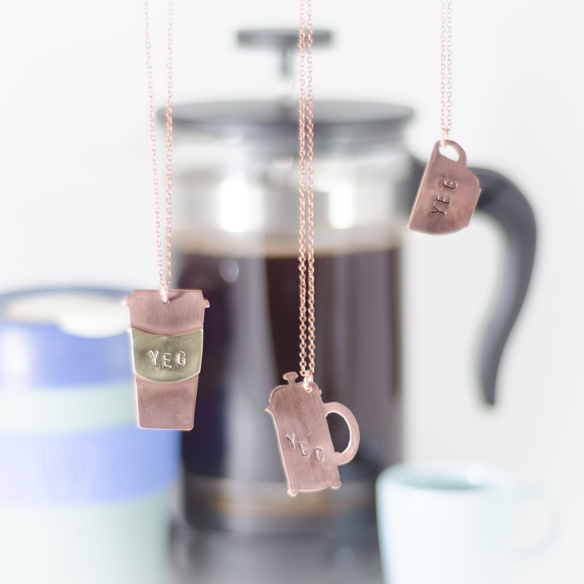 YEG Coffee Necklaces