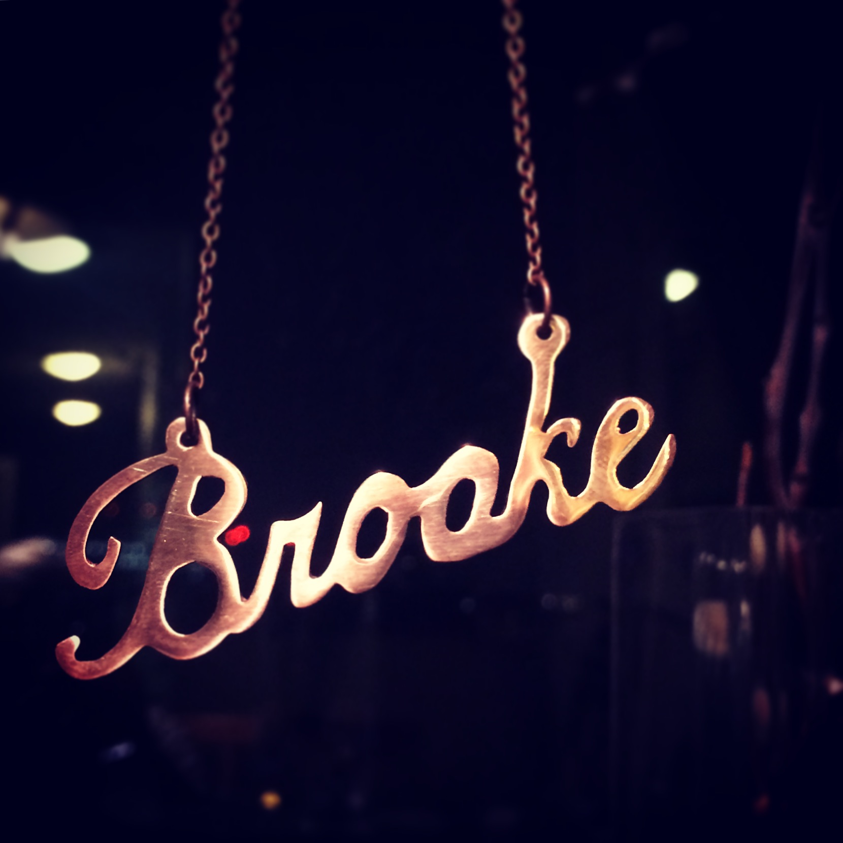 """Brooke"" name necklace"