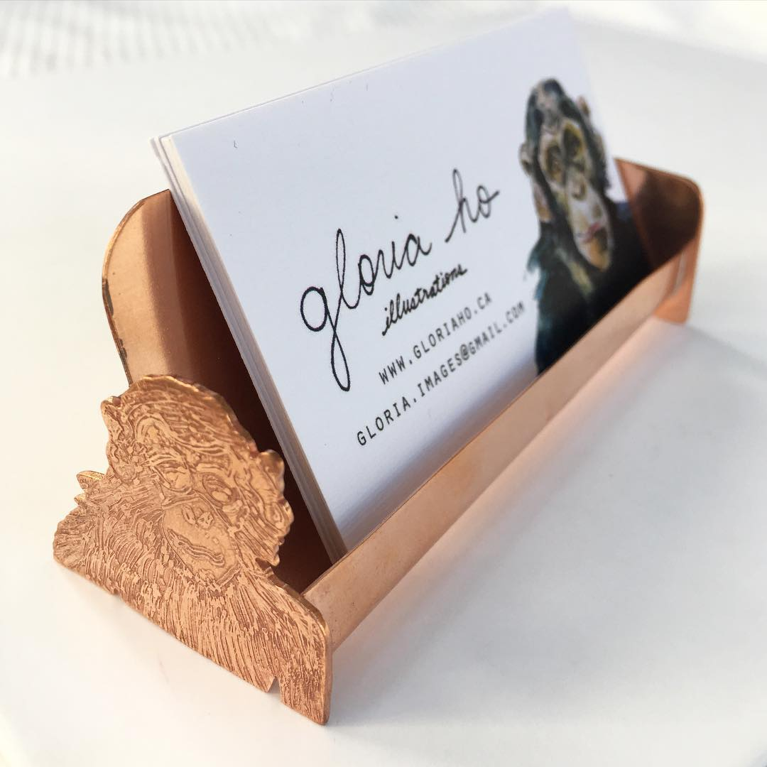 Business Card Holder For Gloria Ho