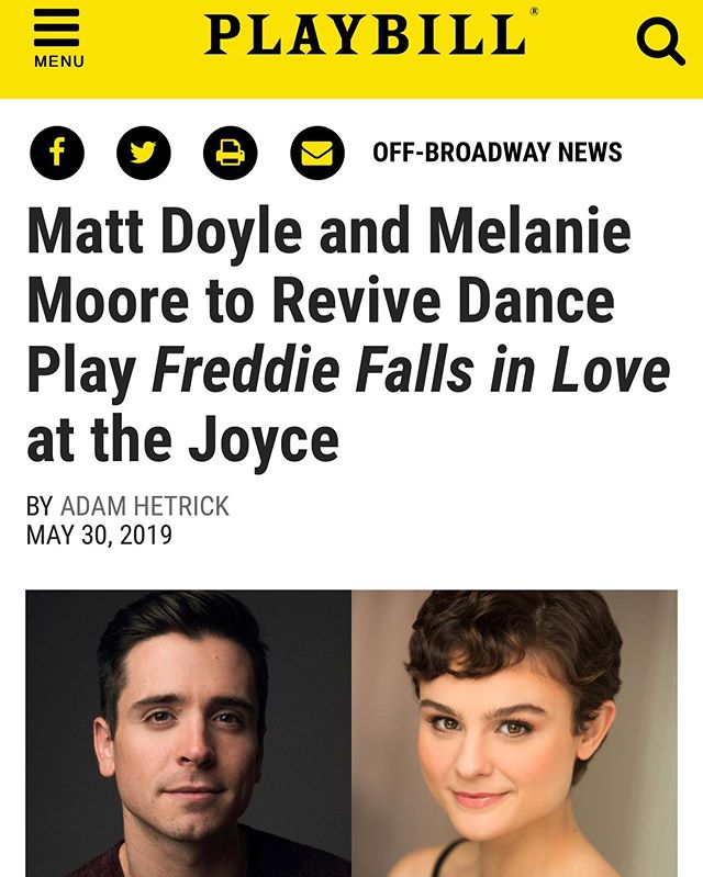 If you know me, you know a.) how much I love this piece, and b.) The Joyce is the last place you ever thought I'd get to perform at 🤣🤣. So honored to be surrounded by these incredible dancers and working with the BRILLIANT @alblackstonechoreo again. Love you, @melaniekmoore ❤️
