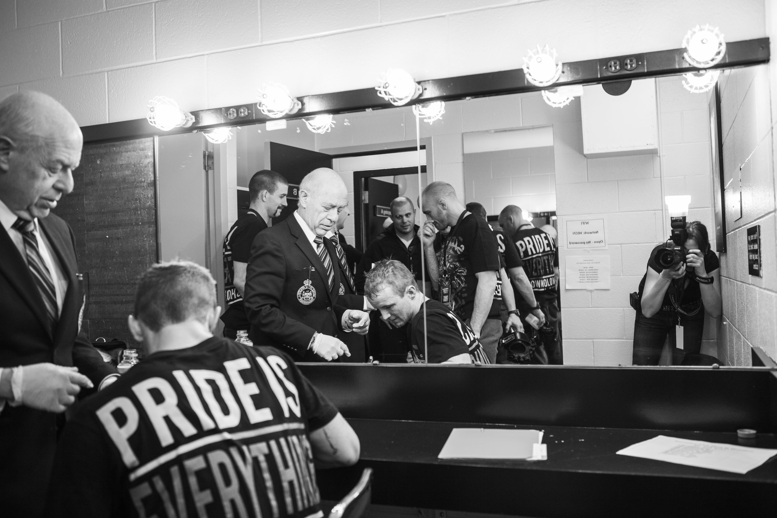 Image: Pride is Everything.  My Favourite accidental self portrait. This image was taken following a Score Fighting Series Event.