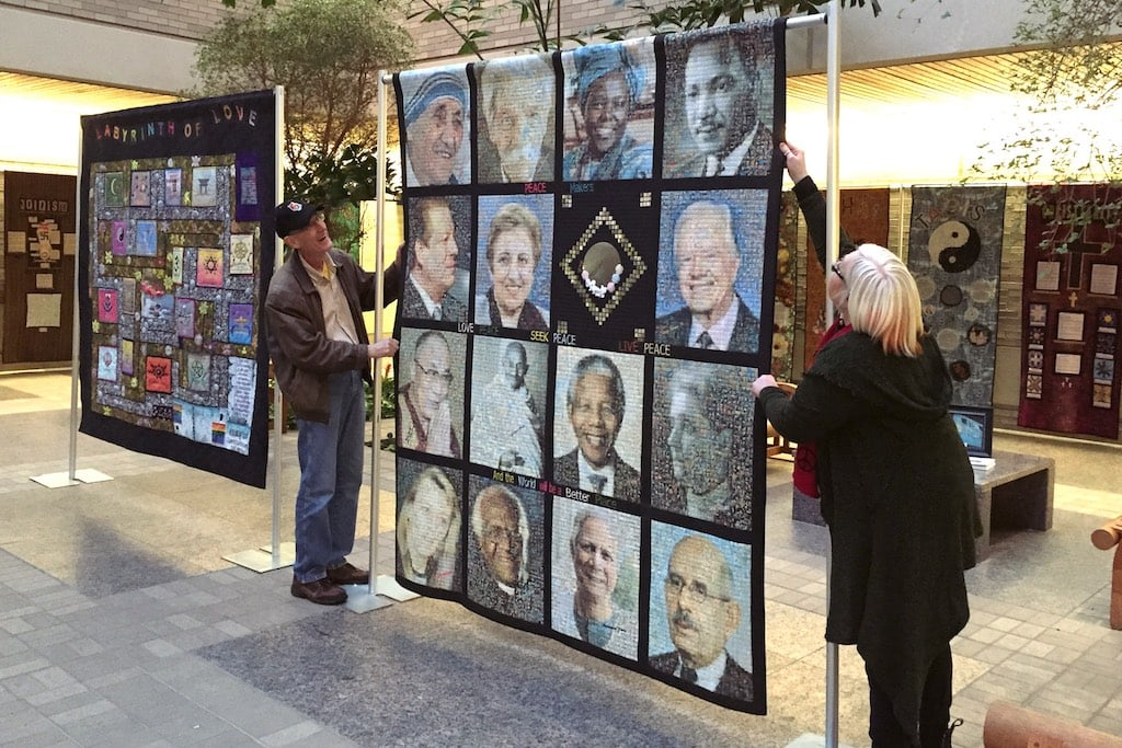 """""""Peace Makers"""" is exhibited along with the rest of the QGR collection at the Dayton Power & Light corporate headquarters in Dayton, OH in February 2015."""