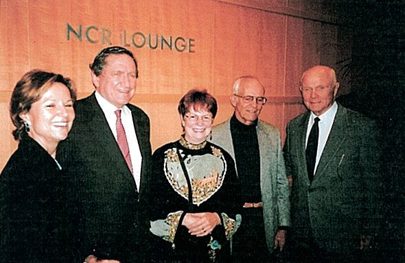 Ambassador Holbrooke and his wife, Chris and Ralph Dull and Senator John Glenn in 2005.