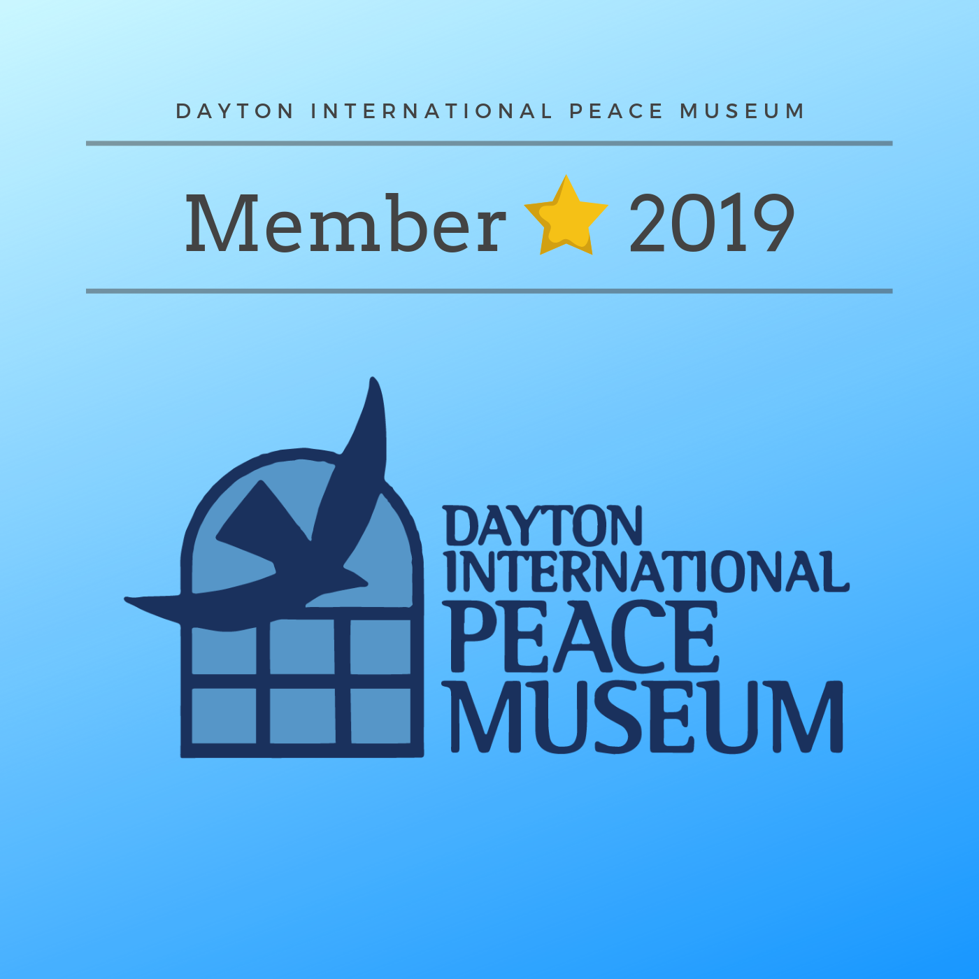 Annual Membership:  Pledge any amount annually to be a member and receive yearly car decal, sticker, free museum admission, and discounts on special events and gifts.