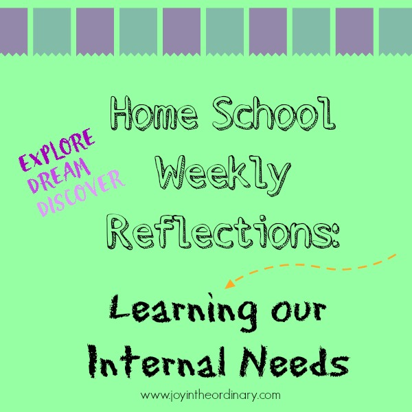 Homeschool reflections Learning the internal needs of a mother and her daughters