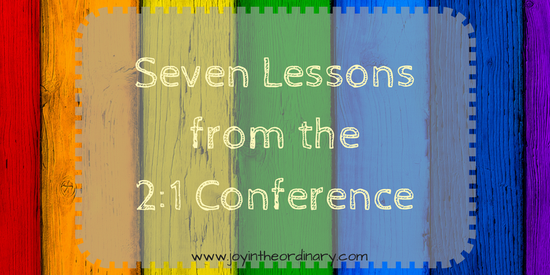 Seven lessons from the 2:1 Conference