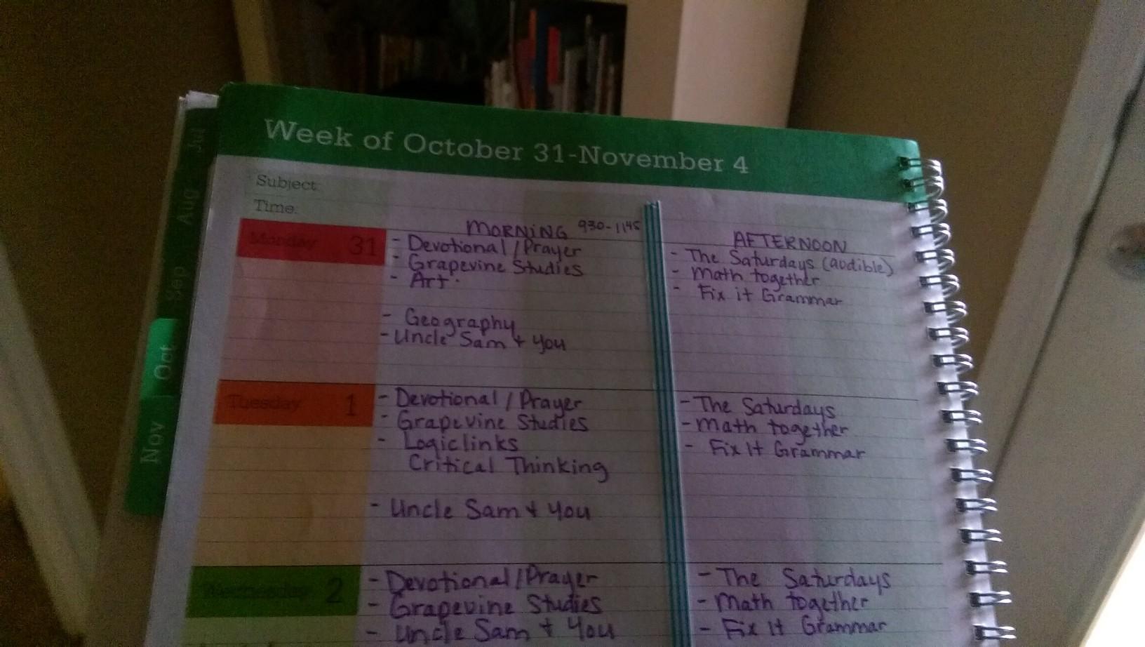 A sneak peek into my homeschool planner