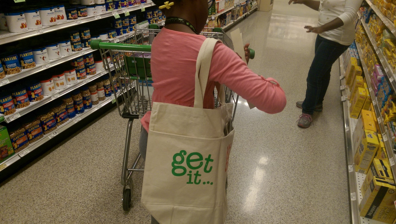 Grocery shopping with my daughters