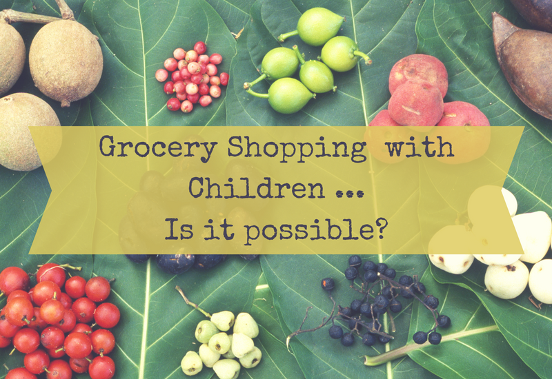 Is grocery shopping with children possible?