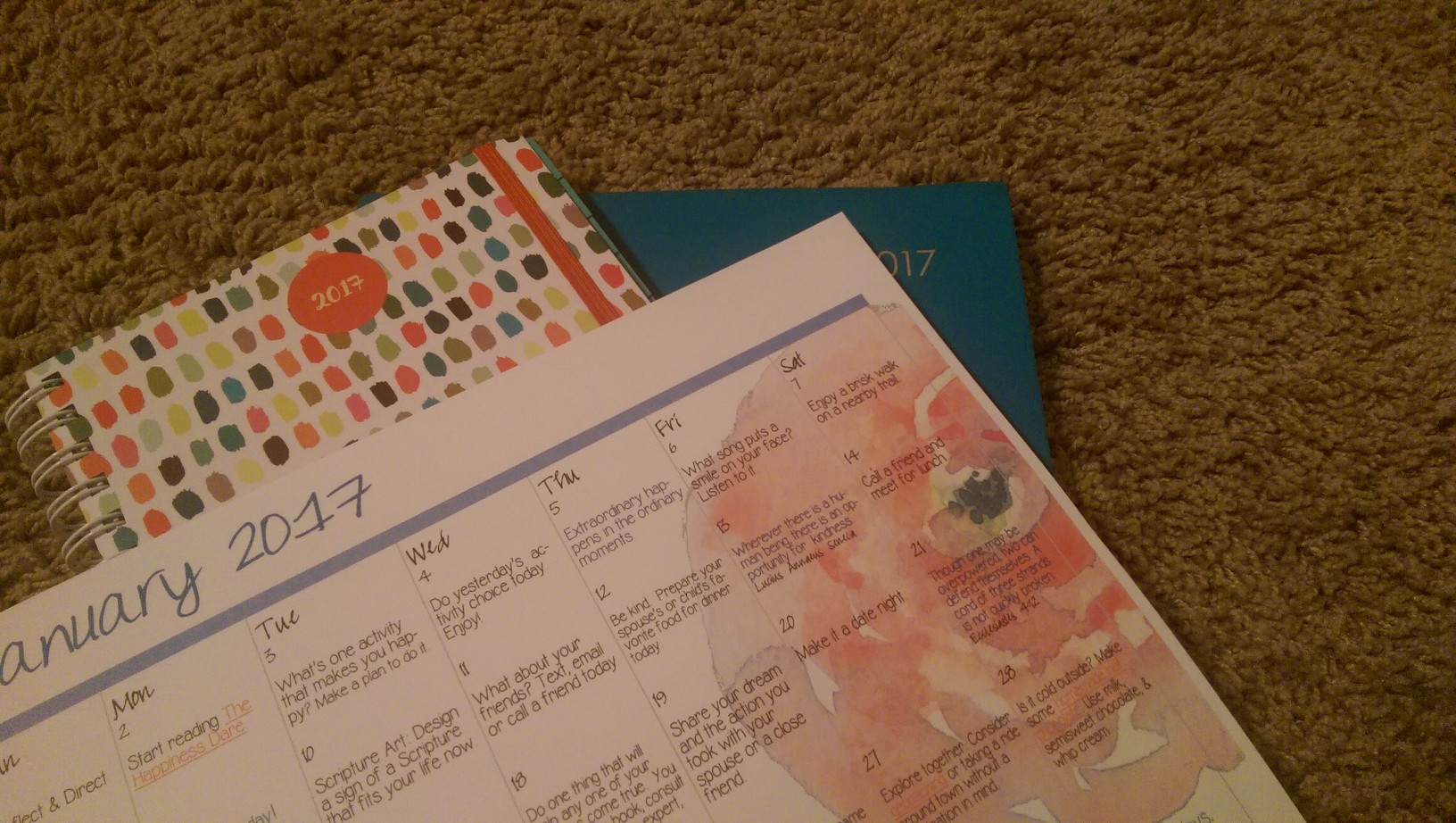 Two planners and the Embrace Your Life calendar