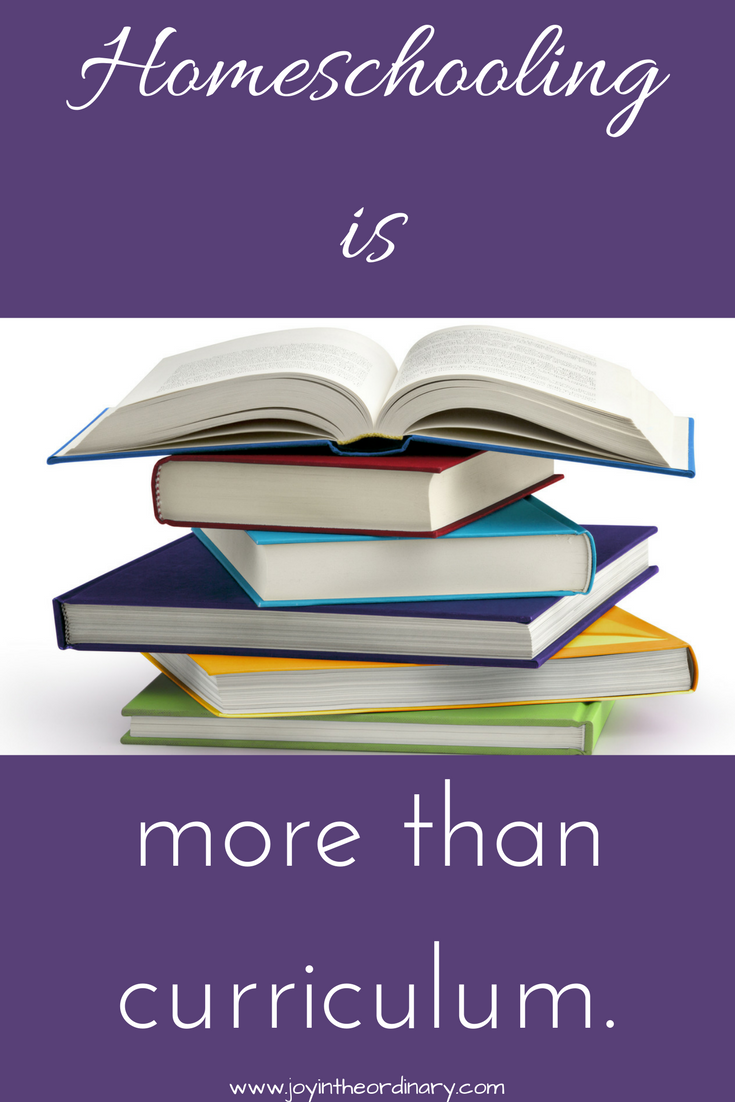 homeschooling is more than books.