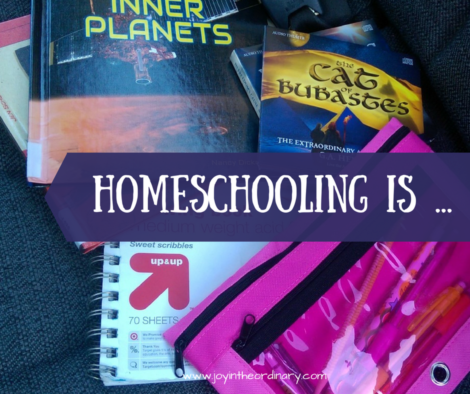 Homeschooling is more than just the books.