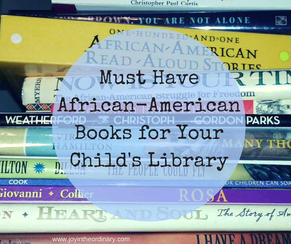 African American picture and chapter books