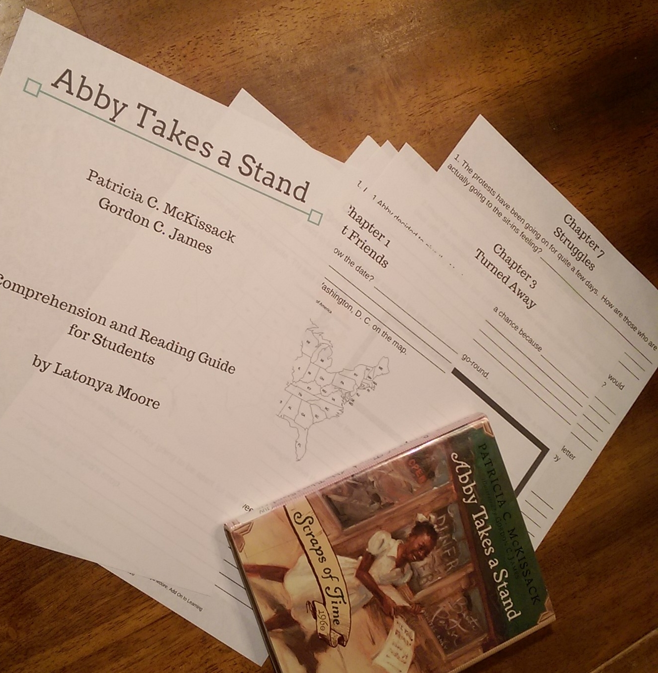 The Abby Takes a Stand study is now available in my Teachers Pay Teachers store.