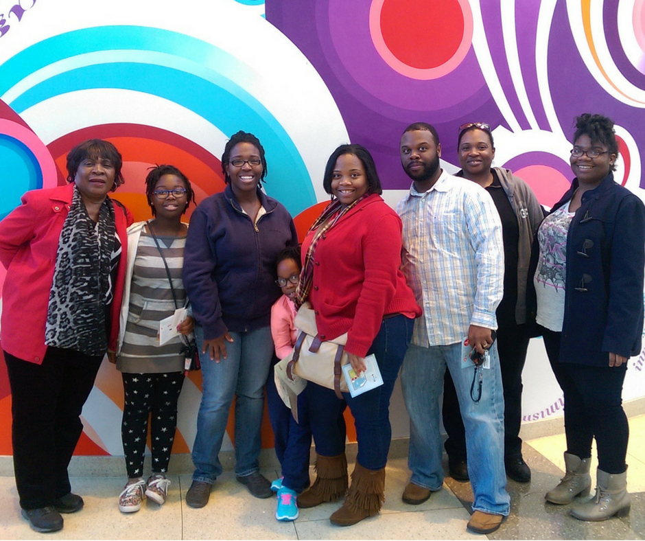African American family at world of coca cola atlanta