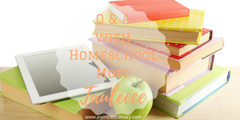 Homeschool mom interview with Tauleece Thomas