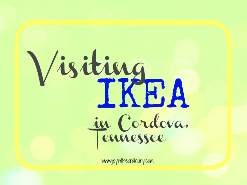 our first visit to Ikea in Cordova Tennessee