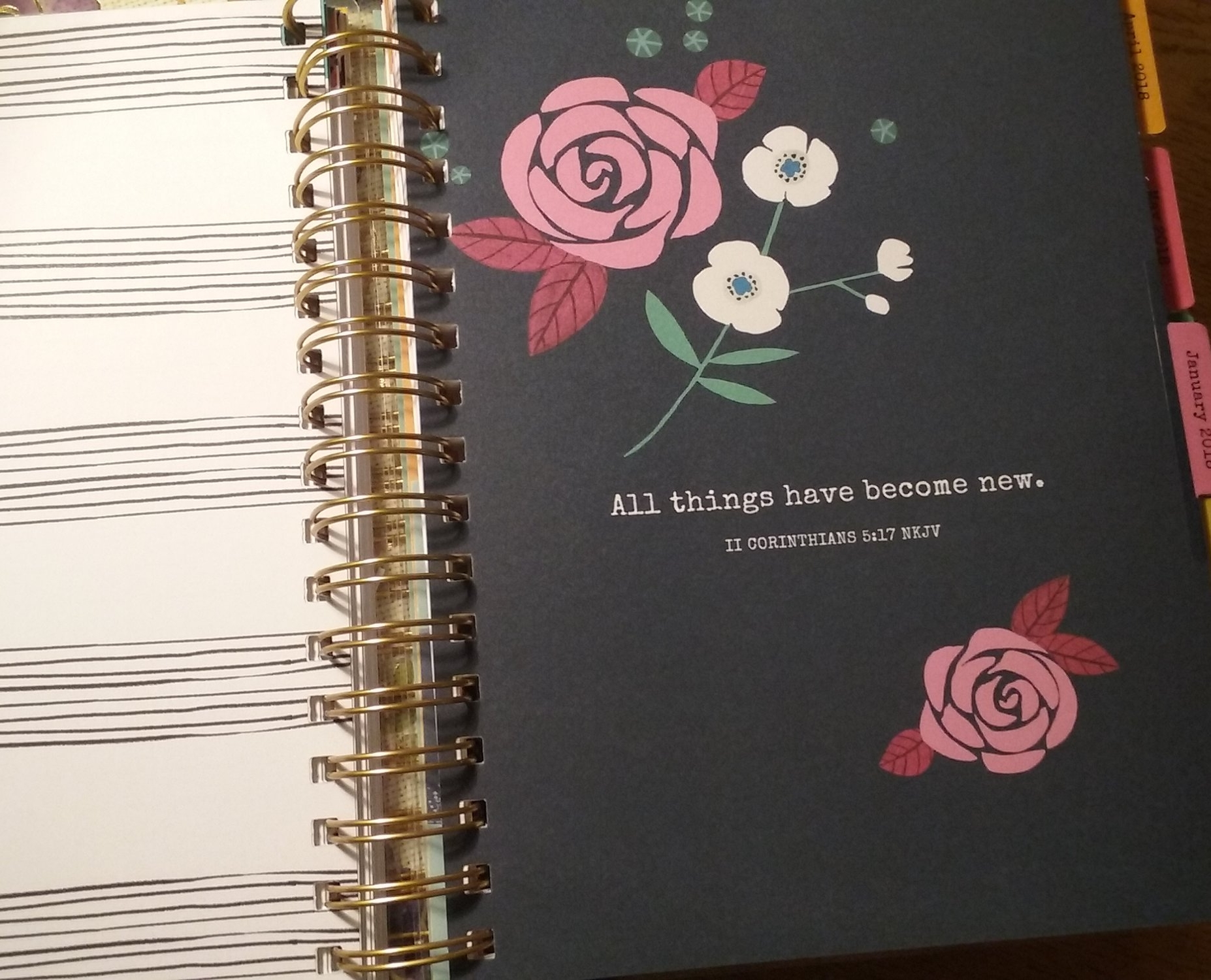 Each month in the Illustrated Faith Planner is introduced with a Scripture or quote.