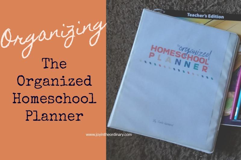 organizing the organized homeschool planner