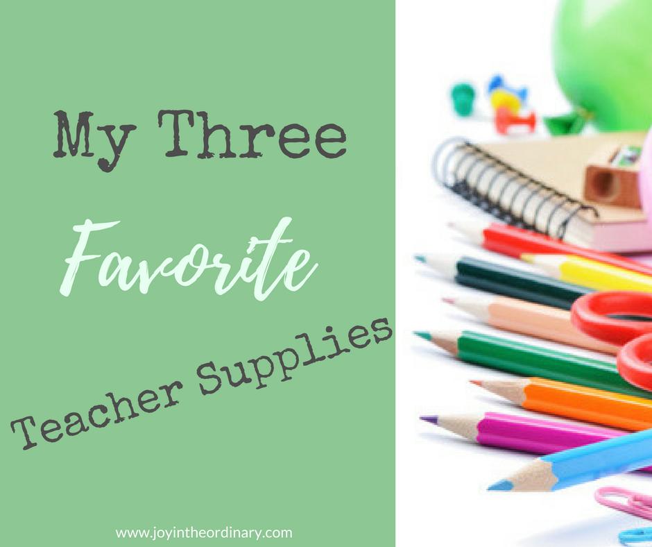 Top teacher supplies for homeschool moms and teachers