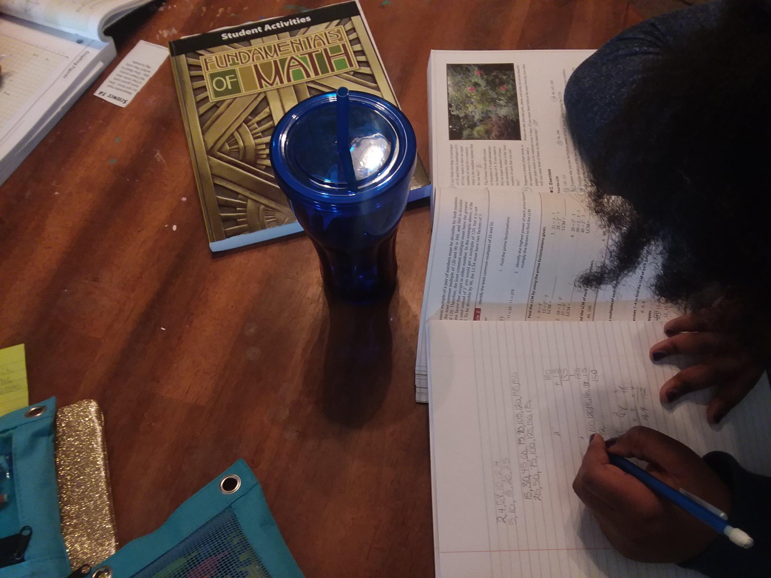 Mathematician hard at work