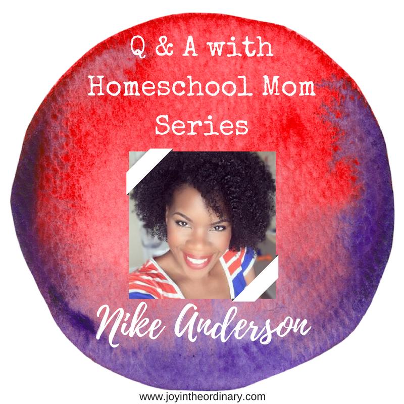 Homeschool mom Nike Anderson from nikeanderson.com