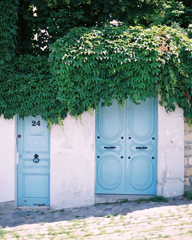 I wonder who lives behind these beautiful doors in #montmartre