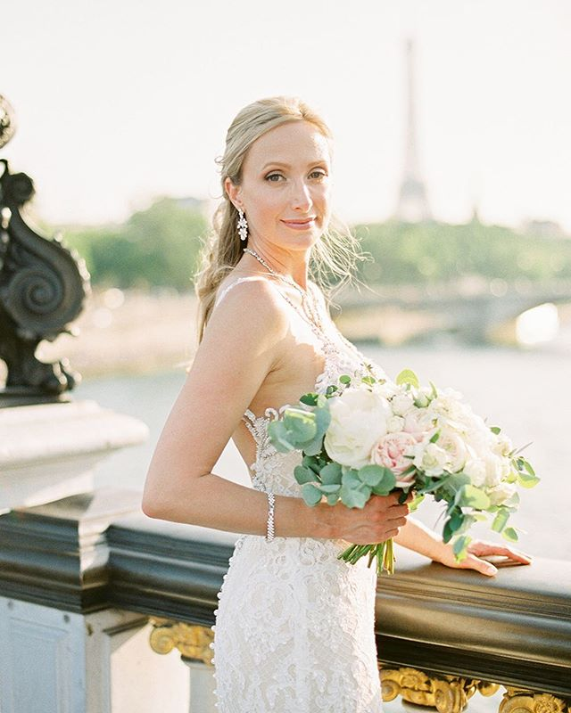 Stunning Marci on her wedding day in Paris
