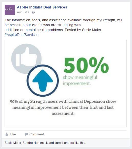 Aspire Deaf Services Facebook Page