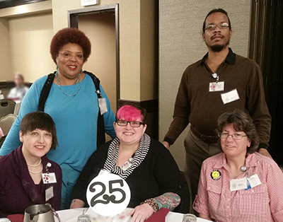 Seated left to right: Suzanna Crossman, Amy Graham - CAC Chair, Lori Boram. Standing left to right: Jeannetta Arbuckle, Jamie Hurt - CAC Vice Chair