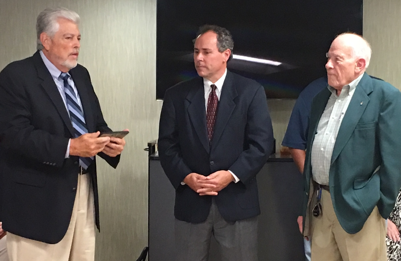We recently dedicated our office building at 2020 Brown Street in Anderson to Aspire President Emeritus Rich Dehaven. Here's Rich (left) with Aspire Board Chair John Demaree (middle) and Aspire Indiana Health Board Chair Duane Hoak (right) at the dedication ceremony on September 27, 2017.