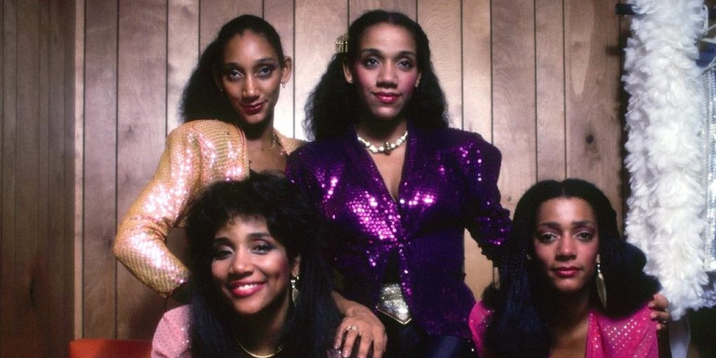 Sister Sledge, pictured clockwise from top left: Debbie, Kathy, Kim, and Joni