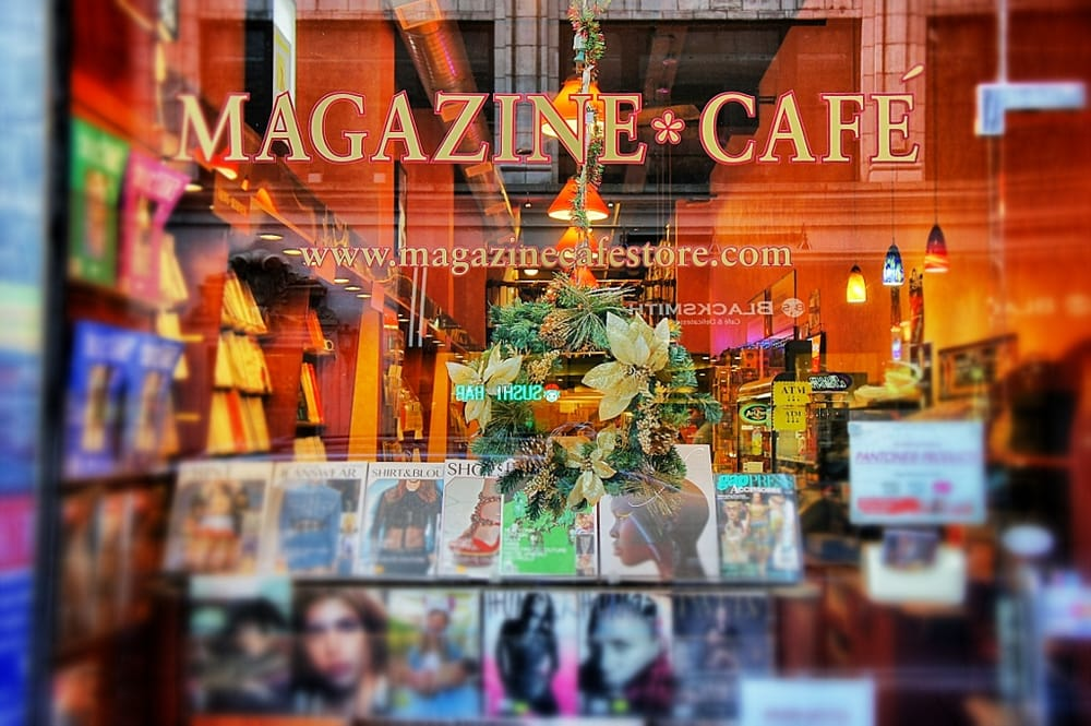 Last of a dying breed: My go-to newsstand,  Magazine Café  in Midtown Manhattan