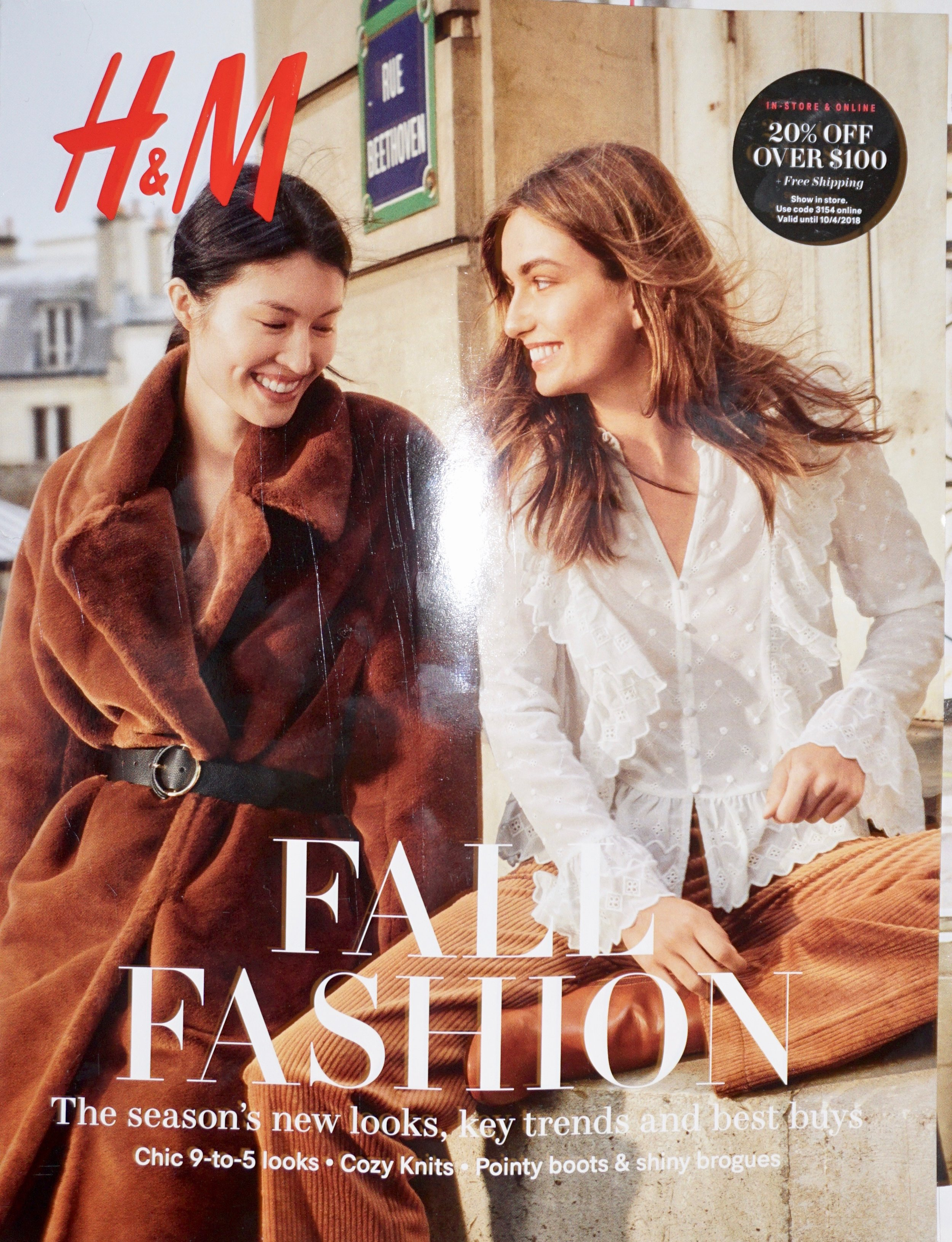 H and M Fall Catalog, used as a source for imagery