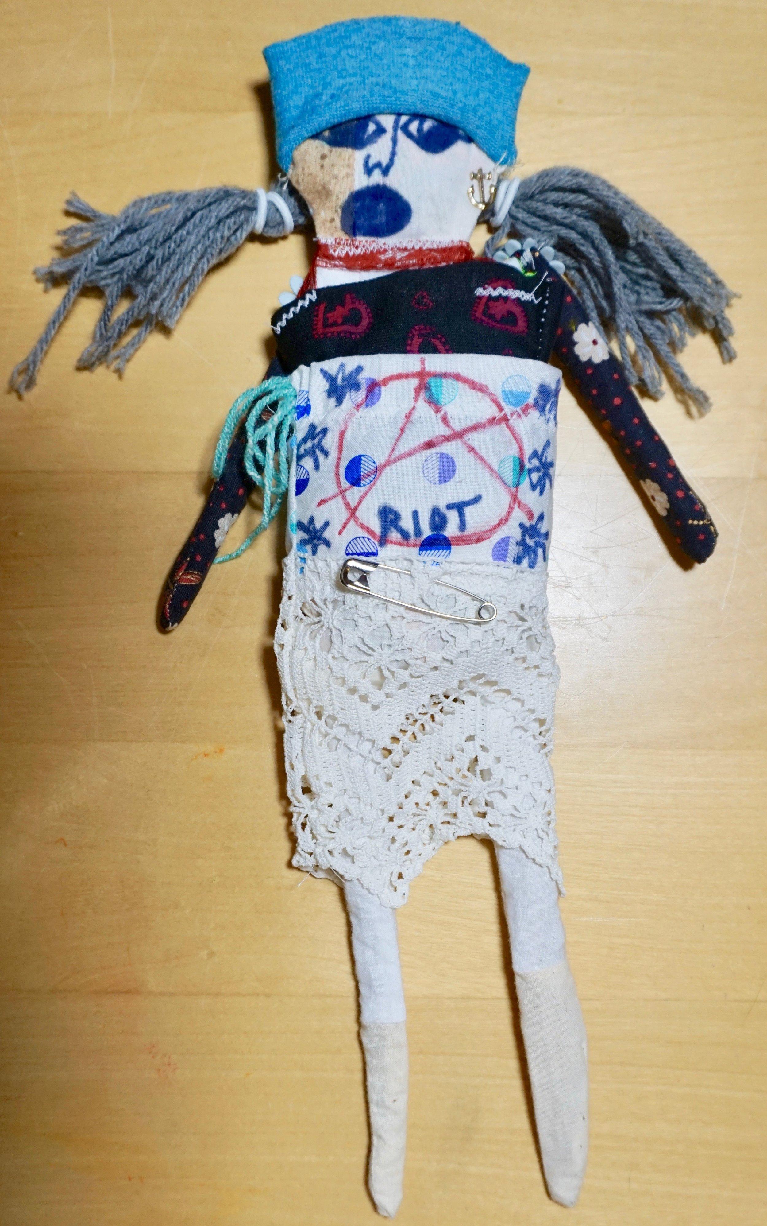 """""""Mel"""", a punk doll by Kathryn Sturges"""