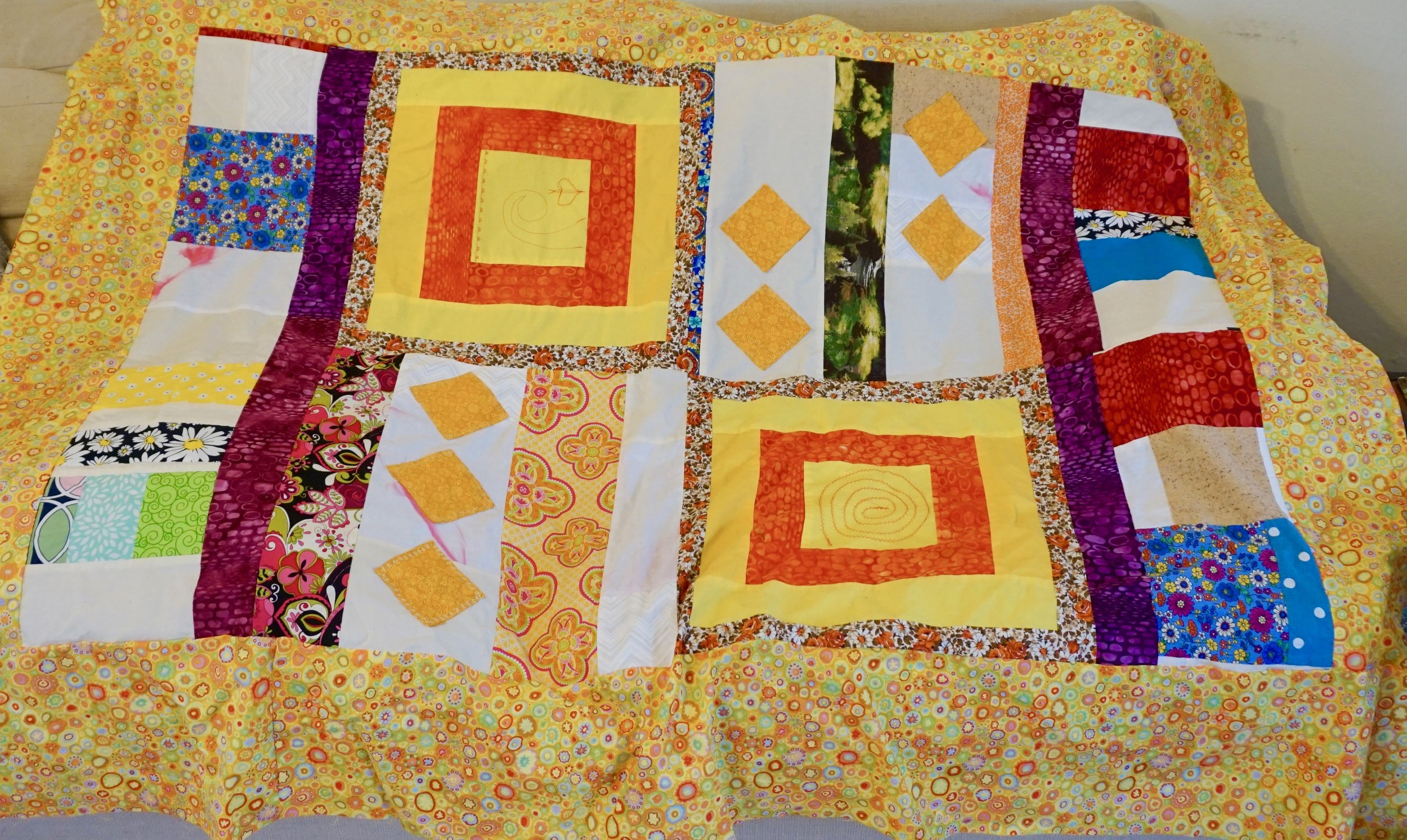 Canary Yellow Quilt by Kathryn Sturges