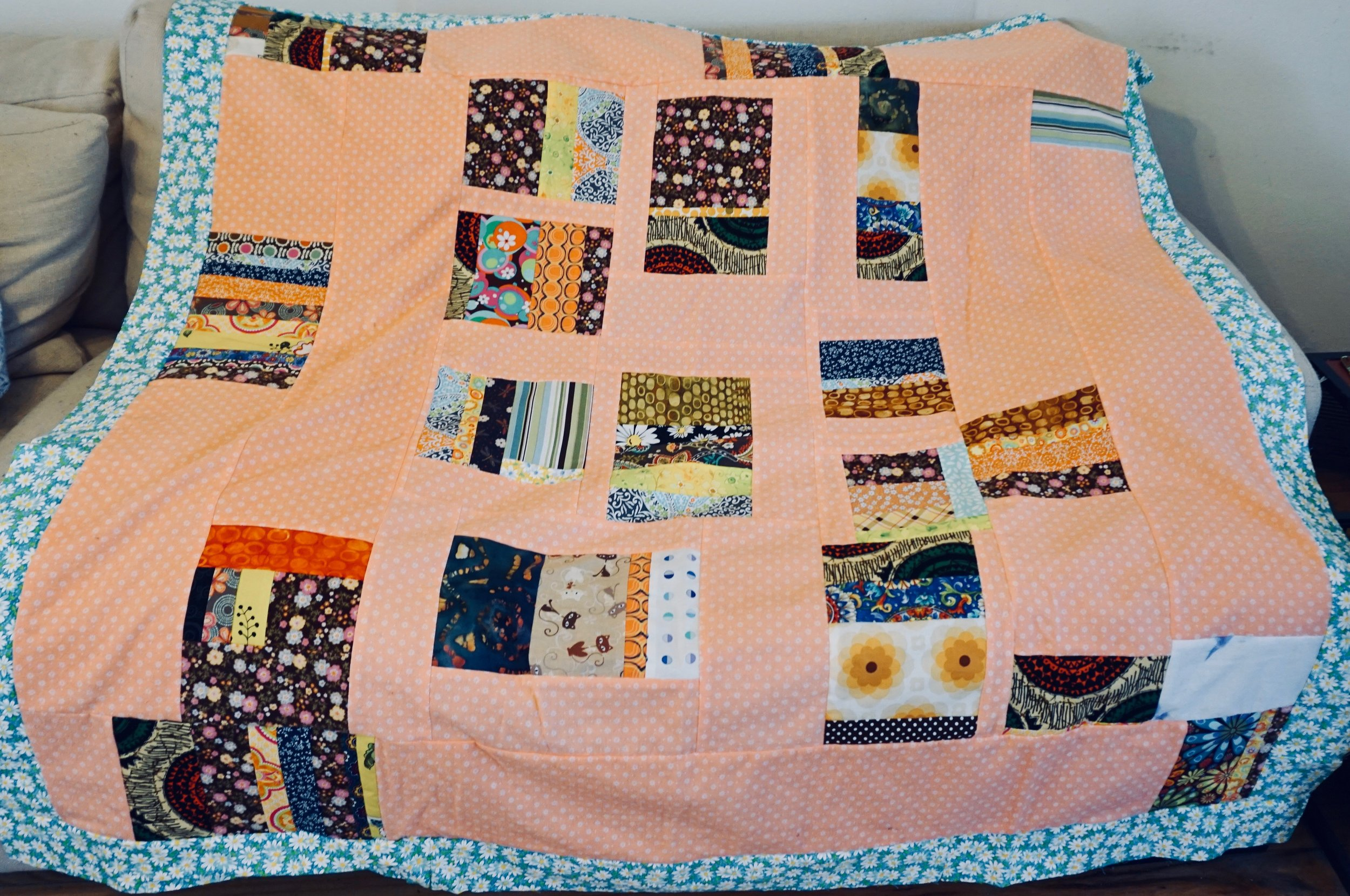 Improv Floral Quilt by Kathryn Sturges