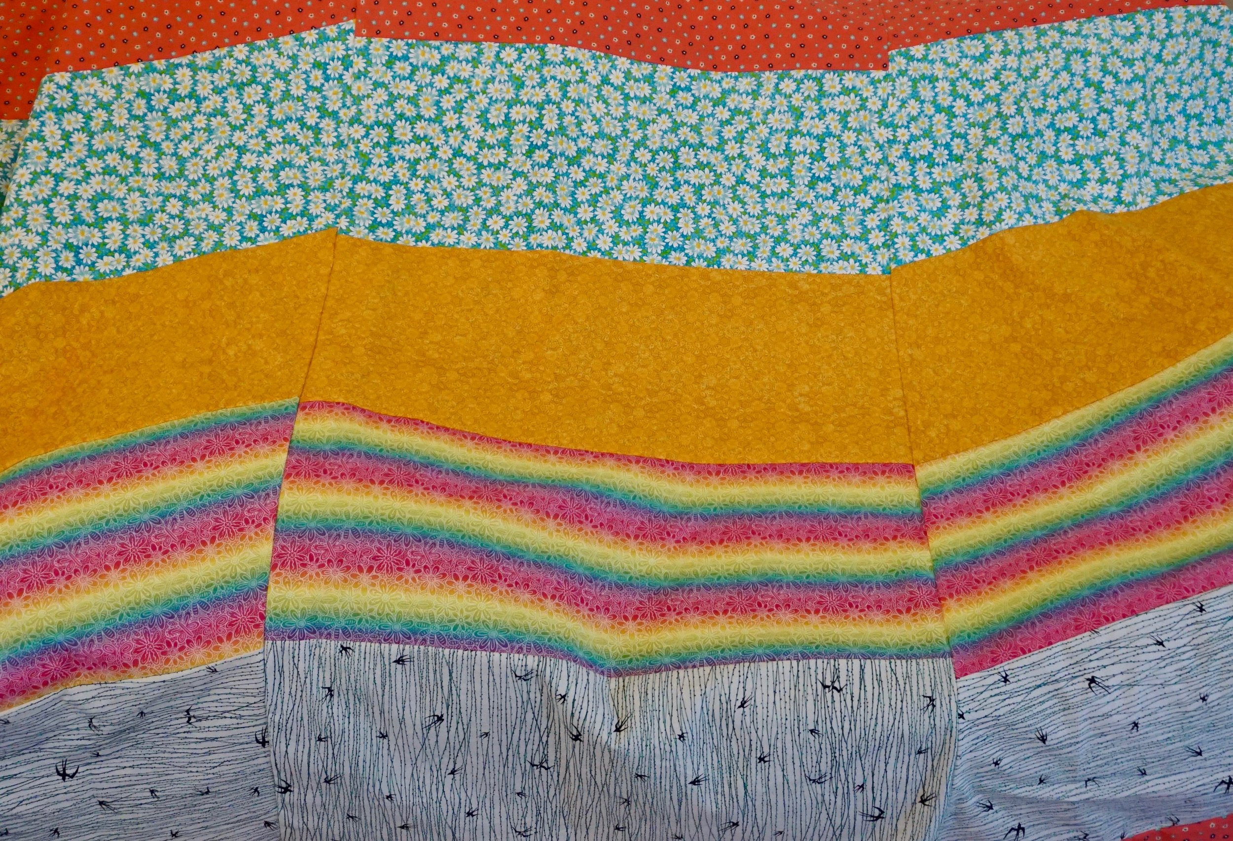 Rainbow Contemporary Quilt by Kat Sturges