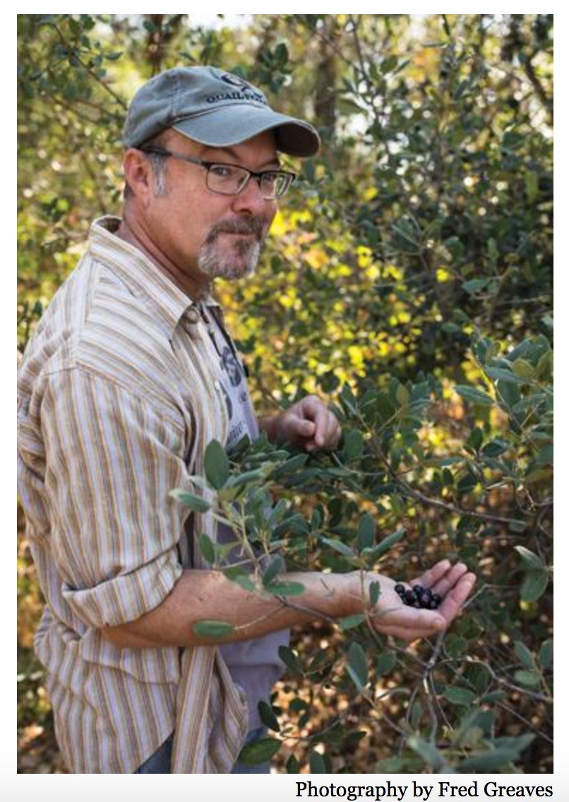 """Food writer Hank Shaw extols the joys of hunting, fishing and foraging out in nature. And he lives by this rule: Eat what you kill. """"Where the Wild Things Are.""""  Sacramento Magazine , October 2017."""