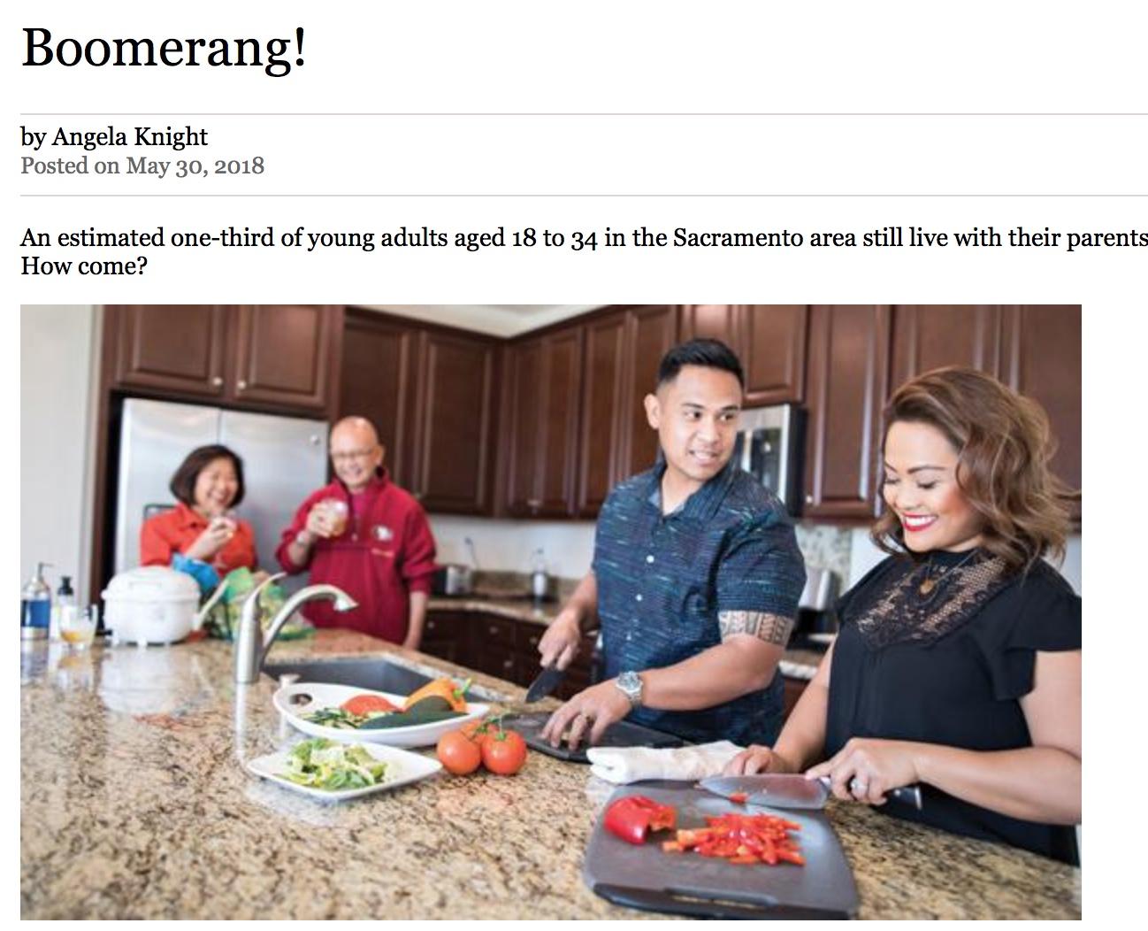 Boomerang!  May 2018,  Sacramento Magazine .
