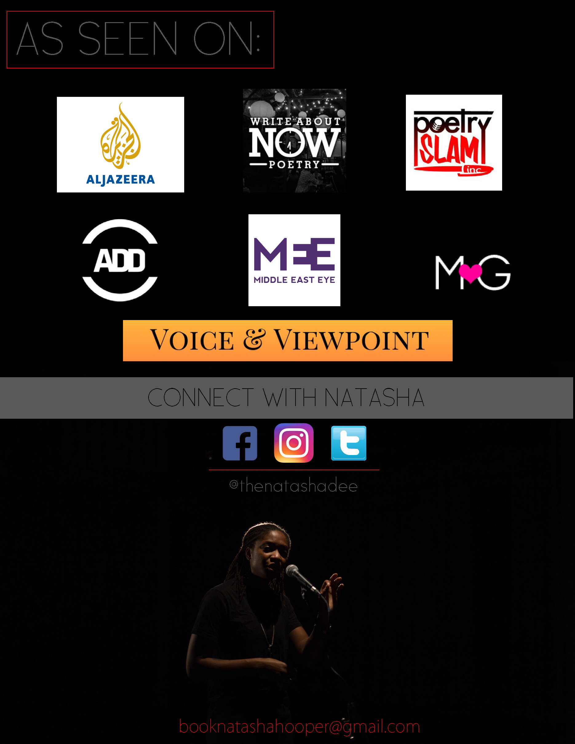 Spoken Word Artist/Poetry EPK 1