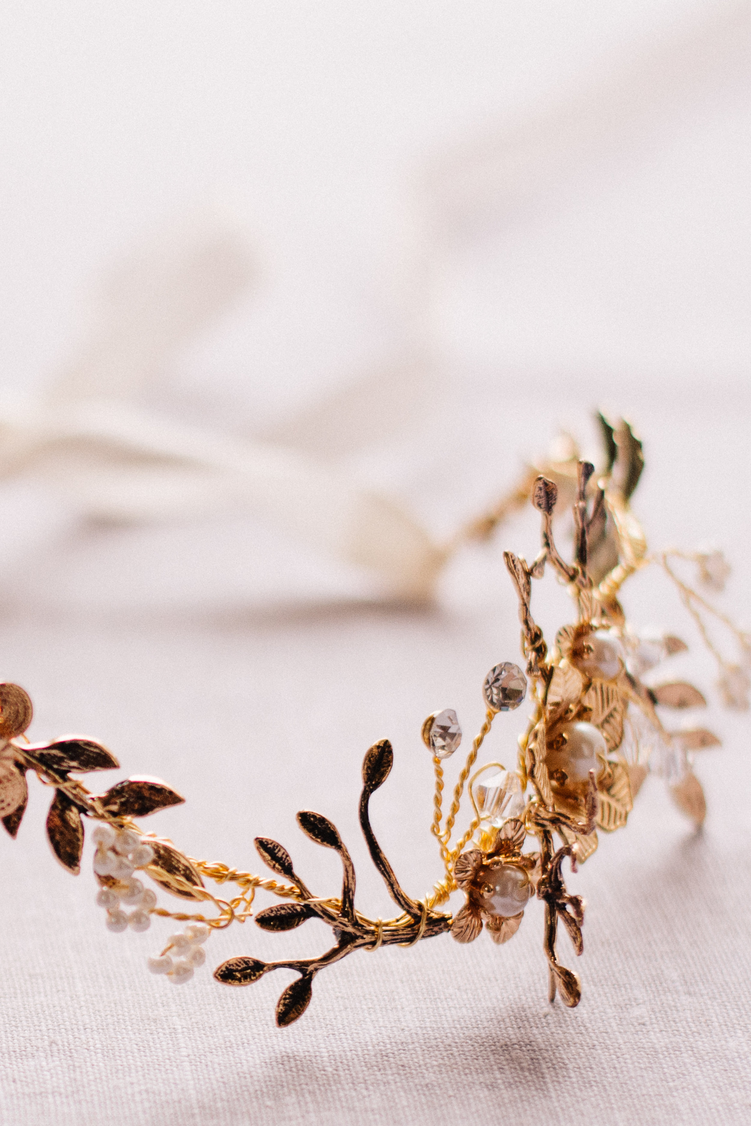 Bridal headpiece by J-Picone Bridal